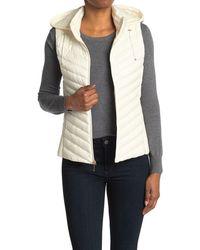 Gallery Packable Zip Drawstring Hood Vest - Natural