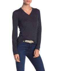 INHABIT - Essential Cotton V-neck Sweater - Lyst