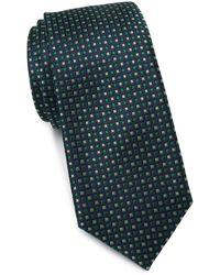 Ted Baker Alternating Squares Silk Tie - Green