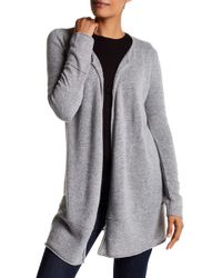 Philosophy Cashmere - Open Front Cashmere Cardigan - Lyst
