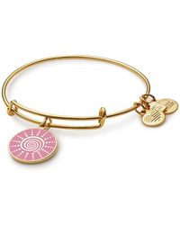 ALEX AND ANI - Charity By Design Spiral Sun Charm Expandable Wire Bracelet - Lyst