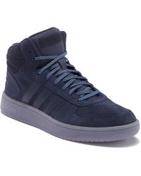 new concept ab0a2 98c7a adidas - Hoops 2-0 High Top Sneaker - Lyst