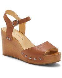 Lucky Brand Zashti Platform Wedge Sandal - Brown
