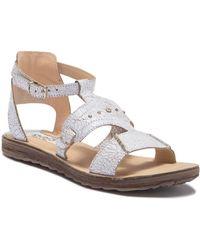 Khrio - Crackle Leather Sandal - Lyst