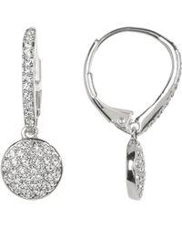 Nadri - Crystal Pave Circle Drop Earrings - Lyst
