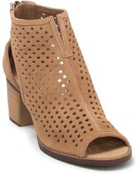Dirty Laundry Tessa Suede Perforated Peep Toe Bootie - Brown