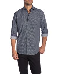 Bugatchi - Checkered Long Sleeve Classic Fit Shirt - Lyst