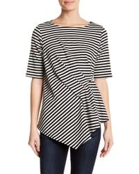 Gibson - Pleat Detail Elbow Sleeve Top - Lyst