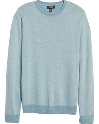 Nordstrom Shop Bird's Eye Crewneck Sweater - Blue