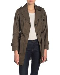 Via Spiga - Pleated Hooded Trench Coat - Lyst