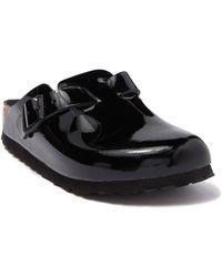 Birkenstock Boston Patent Leather Clog - Black