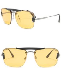 Prada Pillow 56mm Navigator Sunglasses - Gray