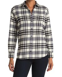 Madewell Plaid Ex-boyfriend Button Up Shirt - Multicolor