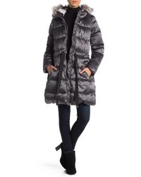 Jessica Simpson - Faux Fur Trimmed Hooded Jacket - Lyst