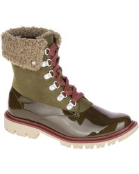 Caterpillar - Hub Hiker Faux Fur Collar Leather Lace-up Boot - Lyst