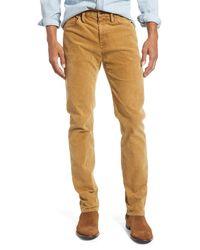 FRAME L'homme Slim Fit Five Pocket Corduroy Pants - Natural