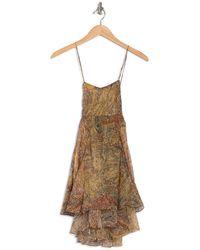 Raga Golden Haze Cross Back Mini Dress - Natural