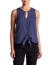 BCBGeneration - Tie Front Tank Top - Lyst