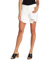 Siwy Whitney Distressed Shorts - White