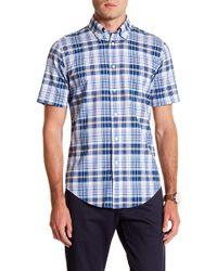 Brooks Brothers - Madras Jones Beach Short Sleeve Regent Fit Shirt - Lyst