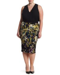 Rachel Roy - Fited Jacquard Sweater Skirt (plus Size) - Lyst