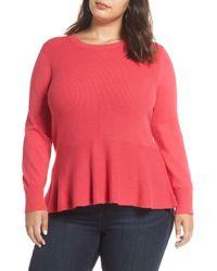 Halogen - Peplum Sweater (plus Size) - Lyst