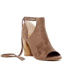 BC Footwear - Carefree Peep Toe Bootie - Lyst