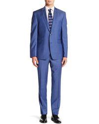 Vince Camuto - Solid Trim Fit 2-piece Wool Suit - Lyst