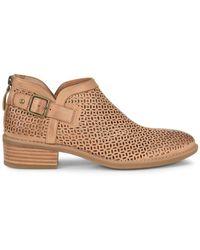 Comfortiva Cantara Lasercut Leather Bootie - Brown