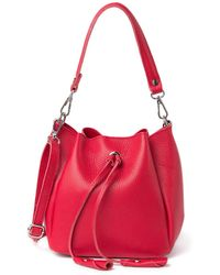 Luisa Vannini Leather Top Handle Crossbody Bag In Rosso At Nordstrom Rack - Red