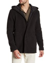 James Perse - Double Face Hooded Coat - Lyst