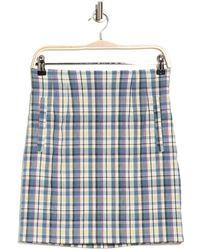 Veronica Beard Roman Plaid Mini Skirt - Blue