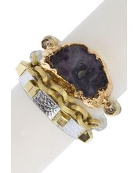 Saachi - Spectacular Stackable Bracelet Set - Lyst