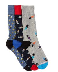 Unsimply Stitched - Combo Crew Socks - Pack Of 3 - Lyst