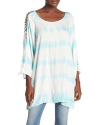 Boho Me - Long Sleeve Tie-dye Dress - Lyst