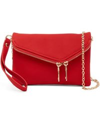 Urban Expressions - Lucy Mini Flap Convertible Pebble Vegan Clutch - Lyst