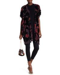 Angie - Burnout Velvet Kimono - Lyst
