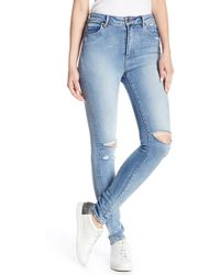 Neuw - Marilyn Distressed Skinny Jeans - Lyst
