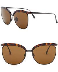 Bottega Veneta - 57mm Clubmaster Sunglasses - Lyst