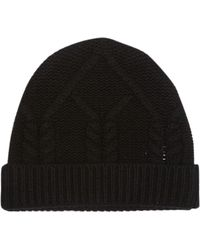 FRAME Cable Knit Wool & Cashmere Beanie - Black