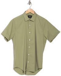 JEFF Solid Regular Fit Sport Shirt - Green