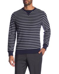 Brooks Brothers - Striped Crew Neck Sweater - Lyst