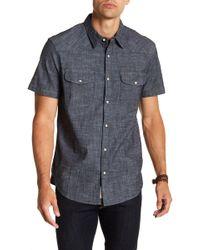 Lucky Brand - Short Sleeve Western Chambray Shirt - Lyst
