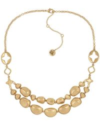 The Sak | Double Layer Beaded Necklace | Lyst