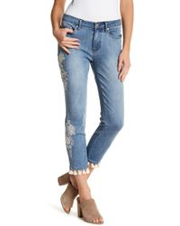Philosophy Apparel - Embroidered Tassel Ankle Crop Jeans - Lyst