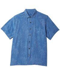 Tommy Bahama - Digital Palms Classic Fit Silk Hawaiian Shirt (big & Tall) - Lyst