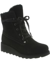 BEARPAW - Kirsta Genuine Shearling Lined Lace-up Boot - Lyst