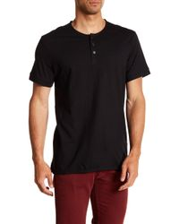 Kenneth Cole - Dressy Henley Shirt - Lyst