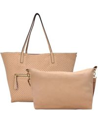 Under One Sky - 2-in-1 Perforated Faux Leather Tote - Lyst