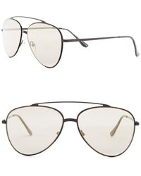 William Rast - Men's 57mm Aviator Sunglasses - Lyst